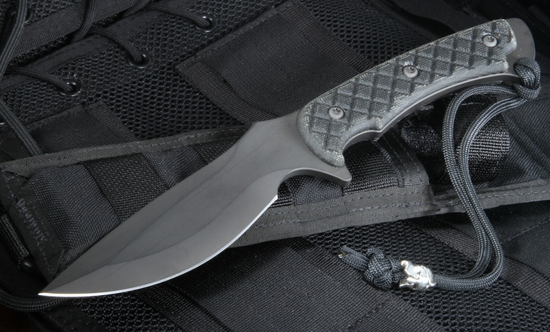 Spartan Nyx - Black Blade, Black Handle Fixed Blade Knife