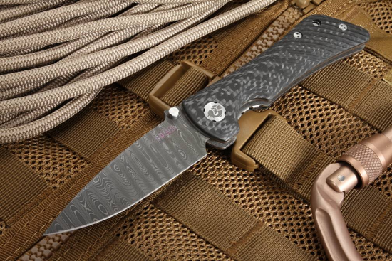 Southern Grind Spider Monkey Stainless Ladder Damascus Steel