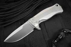 LionSteel SR-11 Titanium Integral Framelock Flipper with Bearings