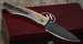 William Henry B-12 Burns Spearpoint Damascus Folding Knife