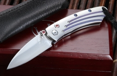 William Henry B04 Ares Pikatti Folding Knife with ZDP-189 Steel