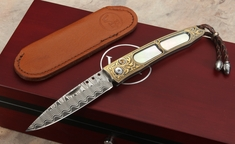 William Henry B06 Harmony - Gold Koftgari Folding Knife