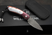 William Henry B09 Eclipse - Meteorite, Blued Damascus and Sapphires Folding Knife