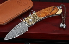 William Henry B09 Majestic - Gold Koftgari, Ironwood and Damascus