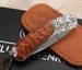 William Henry B09 Weston - Snakewood, Damascus  and Sterling Silver Folding Knife