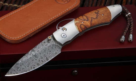 William Henry B12 Copper Butte - Spearpoint -  Damascus & Ironwood