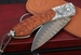 William Henry B12 Dragon Fire Spearpoint - Carved Silver Damascus Folding Knife