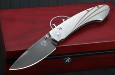 William Henry B12 TB Spearpoint -Titanium Handle Folding Knife