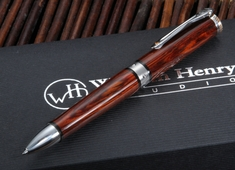 William Henry TW1-1206 Chablis - Cocobolo Wood Twist Pen