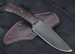 Winkler Hunting Knife - Caswell and Maple with Tribal Design
