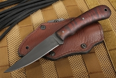 Winkler Knives Operator - Caswell and Maple - Brown Leather Sheath