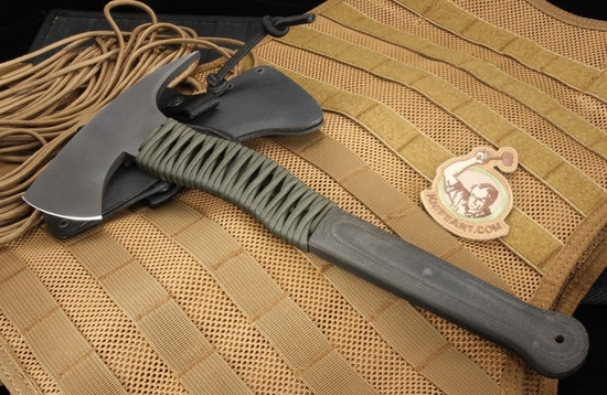 Winkler Knives Wild Bill Axe - Micarta and OD Cord