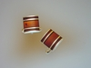 Honey Baltic Amber and Sterling Silver Cufflinks.