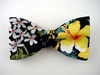 "Bow Tie ""Tropical Flowers"" B2001BL - black"