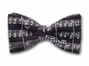"Bow Tie ""Sonata""- Black and White Silk Bowtie - Made in USA"