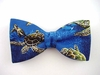 "Bow Tie ""Turtle Bay""- Sea World Bowtie - Blue Men's Accessory - Hand Made in USA"
