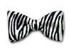 "Bow Tie ""Zebra""- Black and White Silk Bow Tie - Made in USA"