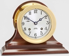 "Chelsea Ship's Bell 4.5"" Clock w/ Hinged Bezel"