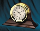 "Chelsea Ship's Bell 4.5"" Clock w/ Screw Bezel"