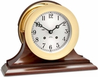 "Chelsea Ship's Bell 6"" Clock w/ Hinged Bezel"