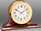 "Chelsea Ship's Bell 8.5"" Clock w/ Hinged Bezel"