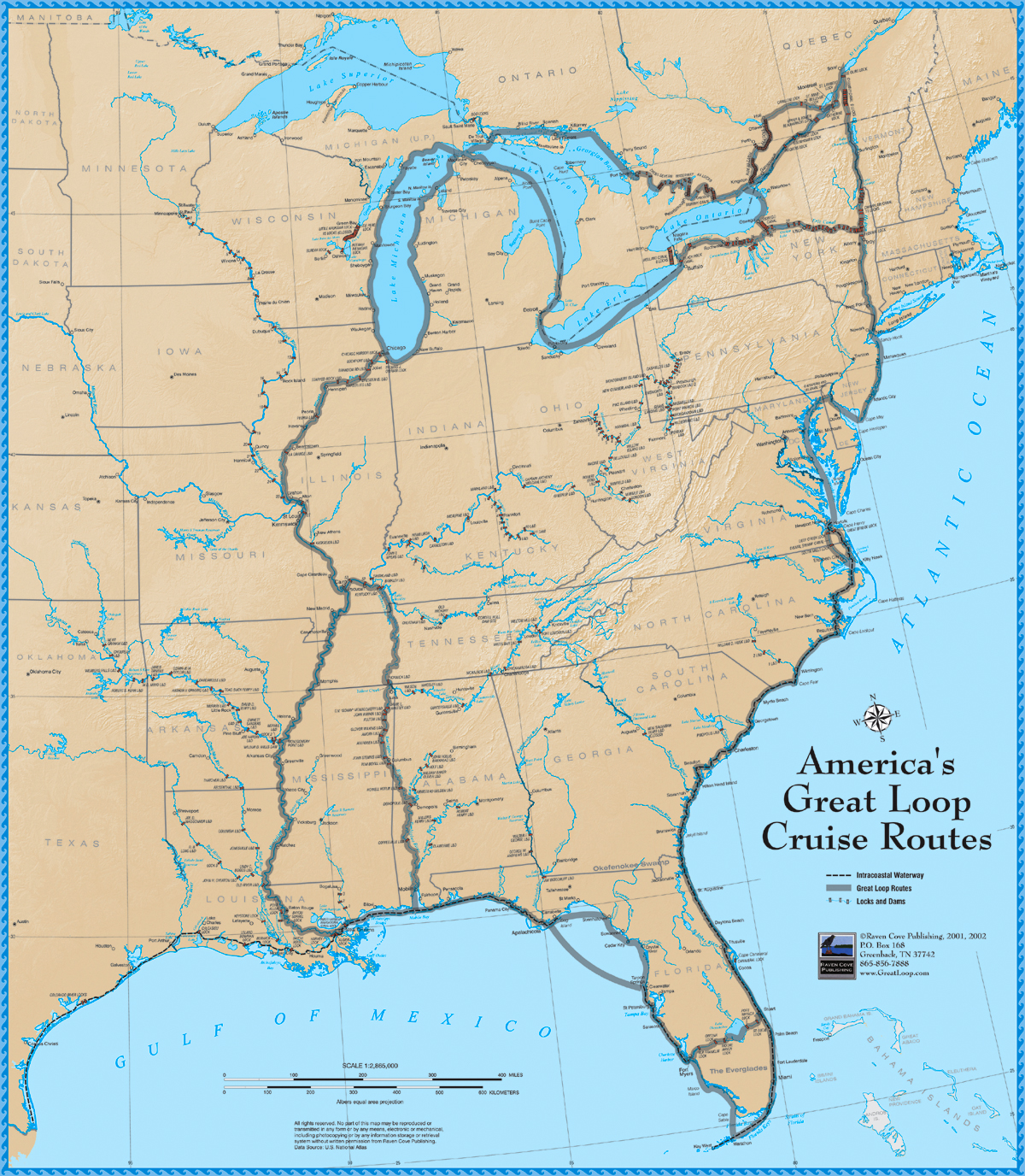 Americas Great Loop Cruise Map - Us inland waterways map
