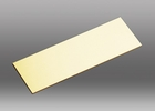 Chelsea Flat Brass 1 x 3 Inch Adhesive Engraving Plate
