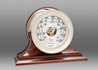 Chelsea Nickel Ship's Bell Barometer on Traditional Base 6 Inch