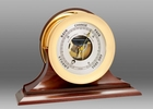 Chelsea Brass Ship's Bell Barometer on Traditional Base 8.5 Inch