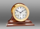 Chelsea Brass Ship's Bell Clock on Traditional Base 4.5 Inch