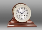 Chelsea Nickel Ship's Bell Clock on Traditional Base 4.5 Inch