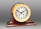 Chelsea Brass Ship's Bell Clock on Traditional Base 6 Inch