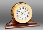 Chelsea Brass Ship's Bell Clock on Traditional Base 8.5 Inch