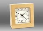 Chelsea Brass Square Desk Alarm Clock