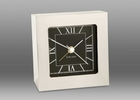 Chelsea Nickel Square Desk Alarm Clock