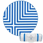 Dock & Bay Round Towel - Cross (190cm) - Blue