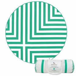 Dock & Bay Round Towel - Cross (190cm) - Green