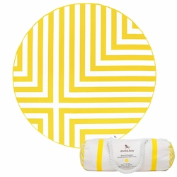 Dock & Bay Round Towel - Cross (190cm) - Yellow