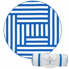 Dock & Bay Round Towel - Maze (190cm) - Blue