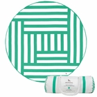 Dock & Bay Round Towel - Maze (190cm) - Green