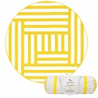 Dock & Bay Round Towel - Maze (190cm) - Yellow