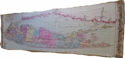Maritime Tribes Scarf - Vintage Map of Long Island Sound