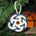 Mystic Knotwork Striped Coaster Ornament