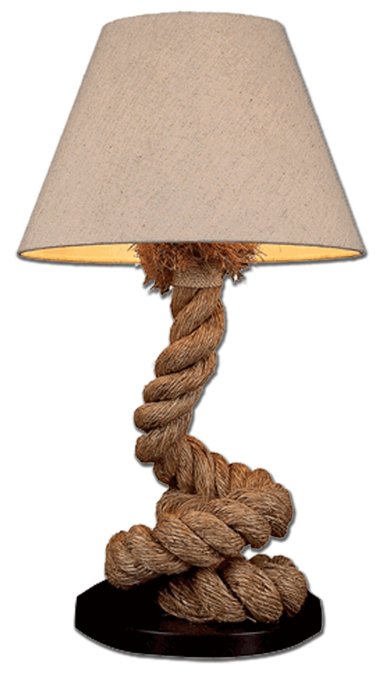 Pier coiled rope lamp for Rope designs and more