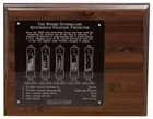 Weems & Plath  Chrome Stormglass Display 8x10 Wood Display with engrav