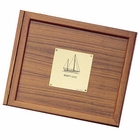 Weems & Plath  Teak Logbook Cover - Sail