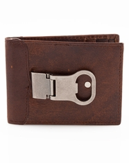 3D Bottle Opener Money Clip - Brown