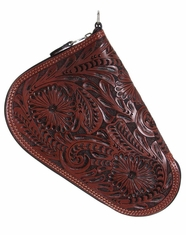 3D Western Tooled Pistol Case - Brown