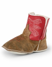 Anderson Bean Infant's Square Toe Boots - Brown/Red