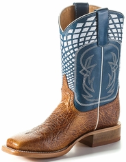 Anderson Bean Kid's Bullfrog Square Toe Boots - Blue